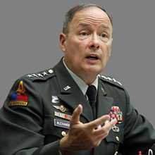 Stolen photo of Army Gen. Keith B. Alexander