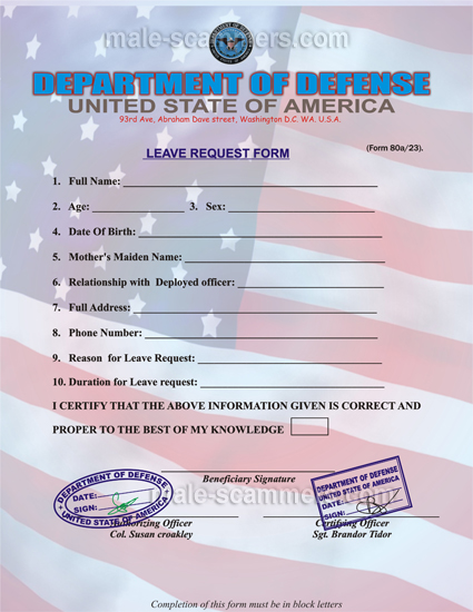 Fake leave request form