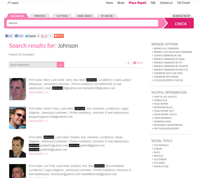 Male-Scammers com: anti-scam tools and protection for single women