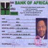 Bank of Africa ID card