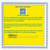 United nation yellow tag