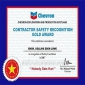 Contractor safety recognition gold award
